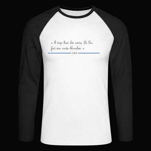 motif 3 jpg - T-shirt baseball manches longues Homme