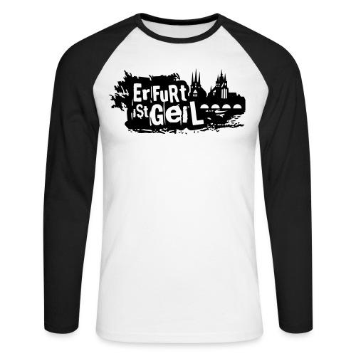 Erfurt ist geil mittel - Männer Baseballshirt langarm