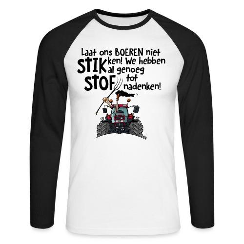 0505 stikstof - Mannen baseballshirt lange mouw
