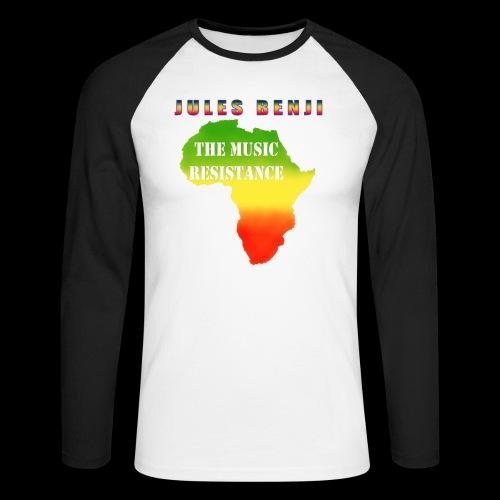 JULES BENJI & MUSIC RESISTANCE africa design - Men's Long Sleeve Baseball T-Shirt