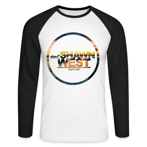 SHAWN WEST BEACH SUN DOWN - Männer Baseballshirt langarm