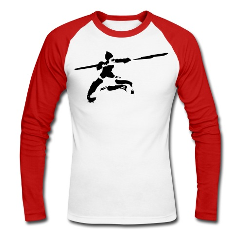 kungfu real ink - Men's Long Sleeve Baseball T-Shirt