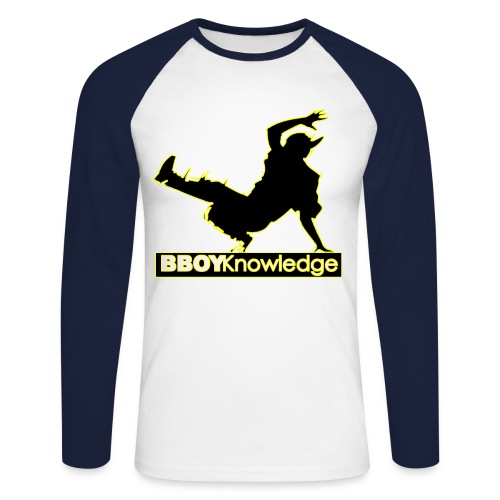 Bboy Knowledge Logo Variation Yellow - T-shirt baseball manches longues Homme