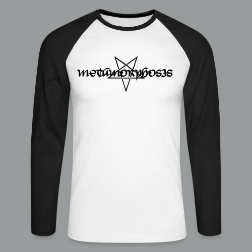 metalogo - Men's Long Sleeve Baseball T-Shirt