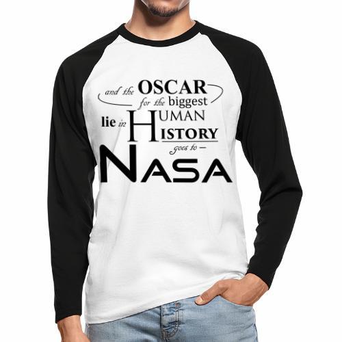 Flat Earth Nasa - Männer Baseballshirt langarm
