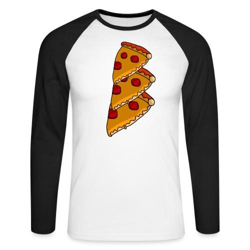 pizza - Langærmet herre-baseballshirt