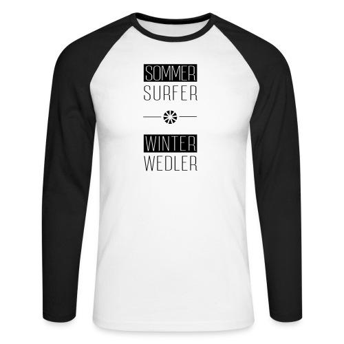sommer surfer winter wedler - Männer Baseballshirt langarm