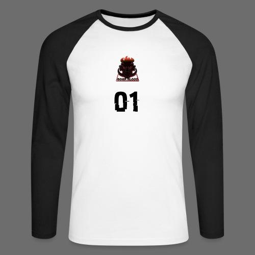 Boar blood 01 - Koszulka męska bejsbolowa z długim rękawem