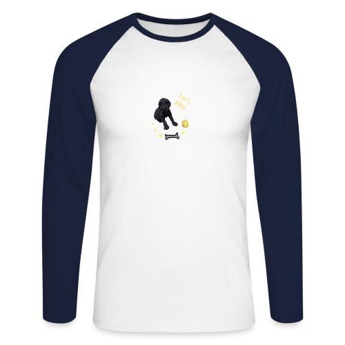 Giant Schnauzer puppy - Men's Long Sleeve Baseball T-Shirt