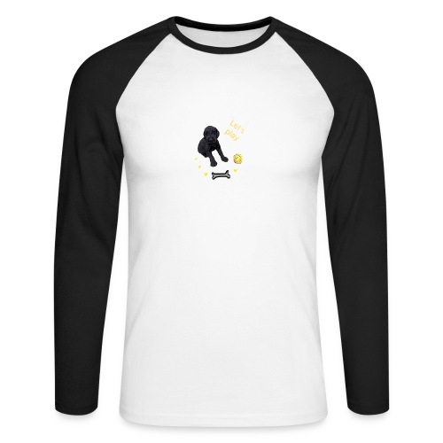Giant Schnauzer puppy - Men's Long Sleeve Baseball T-Shirt
