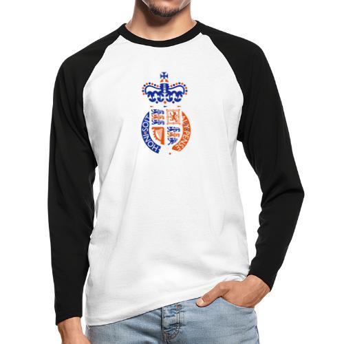 British Seal Pixellamb - Männer Baseballshirt langarm