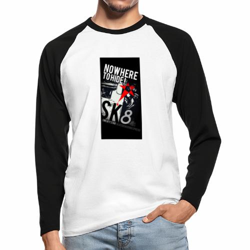 NO WHERE TO HIDE - T-shirt baseball manches longues Homme