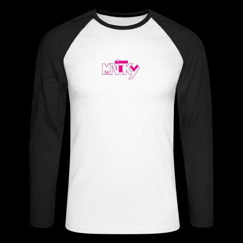 MaickyTv Pink - Männer Baseballshirt langarm