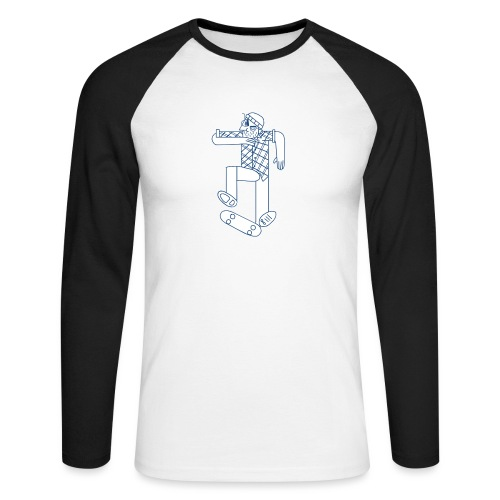 skater - T-shirt baseball manches longues Homme