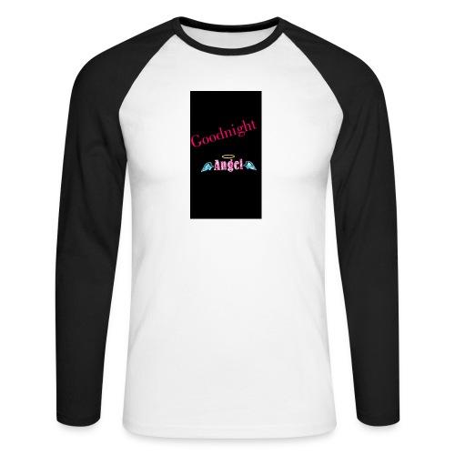 goodnight Angel Snapchat - Men's Long Sleeve Baseball T-Shirt