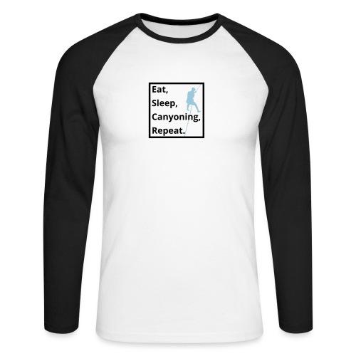eat sleep canyoning repeat - Männer Baseballshirt langarm