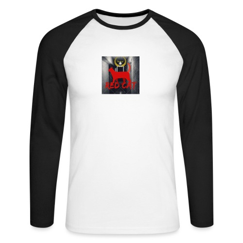 Red Cat (Deluxe) - Men's Long Sleeve Baseball T-Shirt
