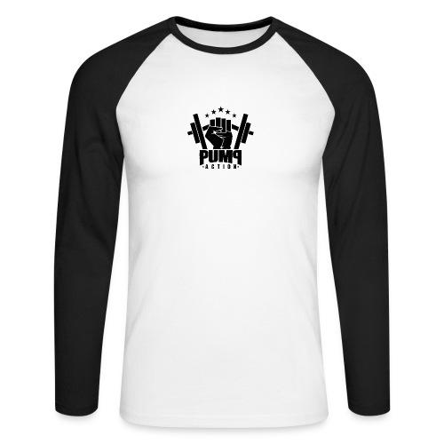 PUMP-ACTION LOGO BLACK - Männer Baseballshirt langarm
