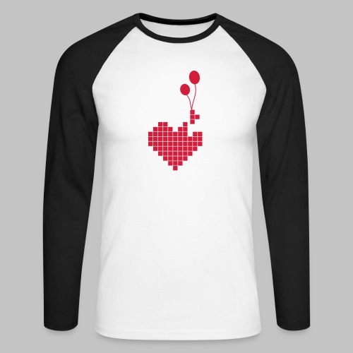 heart and balloons - Men's Long Sleeve Baseball T-Shirt