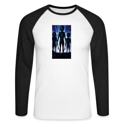 Alien 👽 - Männer Baseballshirt langarm
