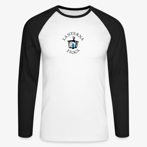 Logo e Scritta Lanterna Fioca - Maglia da baseball a manica lunga da uomo