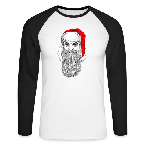 Weihnachtsmann mit roter Mütze - Männer Baseballshirt langarm