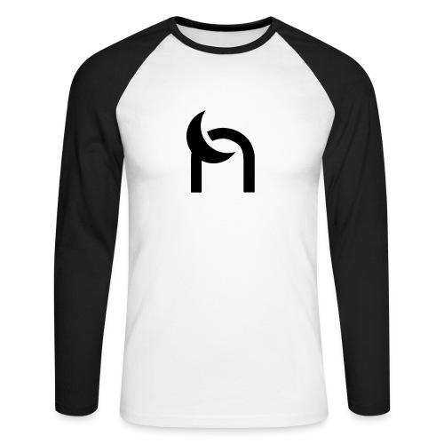 Nocturnal n logo black - Men's Long Sleeve Baseball T-Shirt