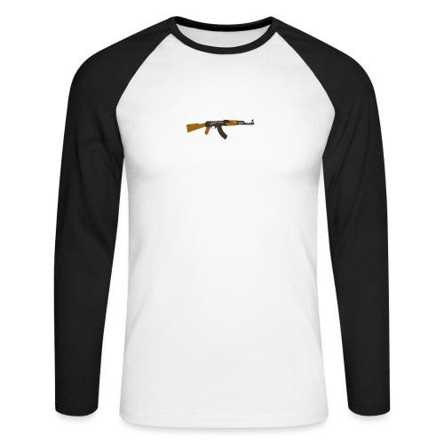 fire-cartoon-gun-bullet-arms-weapon-drawings-png - Mannen baseballshirt lange mouw