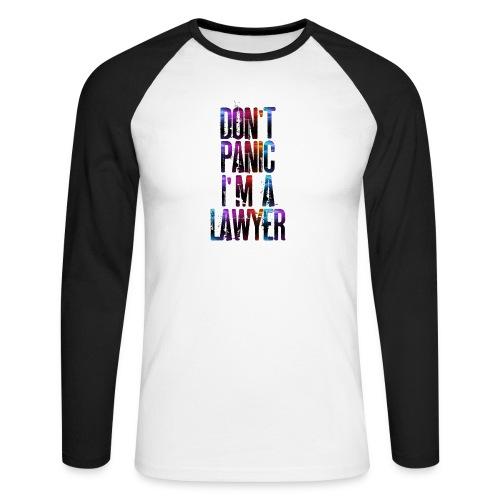 Dont Panic I'm a Lawyer T-Shirt avvocatessa - Men's Long Sleeve Baseball T-Shirt