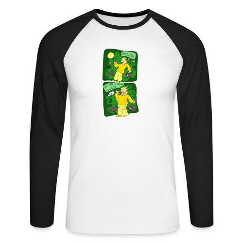 Katzenhaare - Männer Baseballshirt langarm