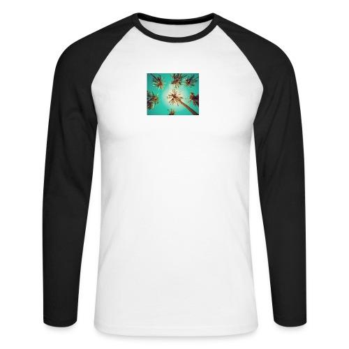 palm pinterest jpg - Men's Long Sleeve Baseball T-Shirt