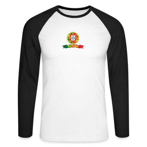 Portugal Campeão Europeu Camisolas de Futebol - Men's Long Sleeve Baseball T-Shirt