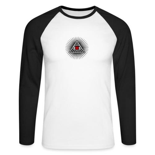 EYES - Koszulka męska bejsbolowa z długim rękawem
