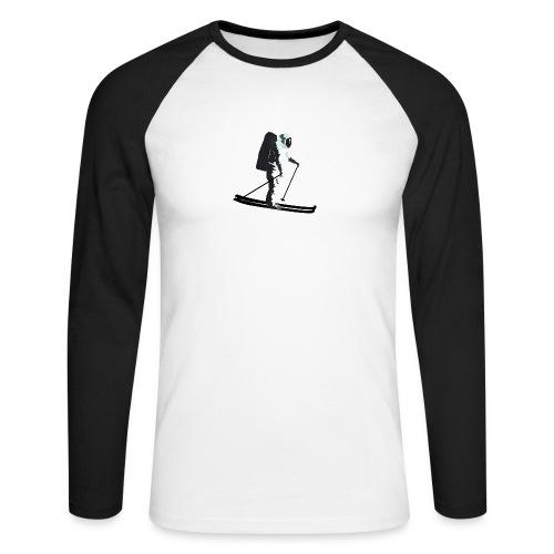 Moonlight Skiing - Men's Long Sleeve Baseball T-Shirt