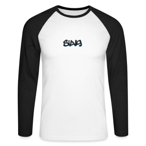 SilViG logo limited - Langærmet herre-baseballshirt