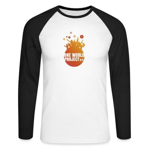 One World Project e. V. - Logo - Männer Baseballshirt langarm