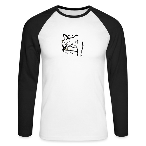 chat - T-shirt baseball manches longues Homme