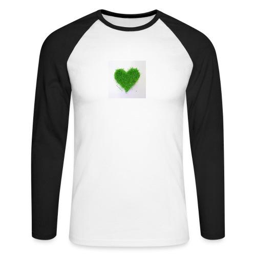 Herzrasen Button - Männer Baseballshirt langarm