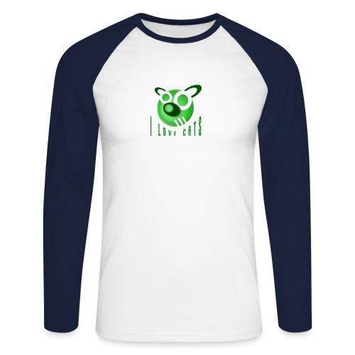 I Love Cats - Men's Long Sleeve Baseball T-Shirt