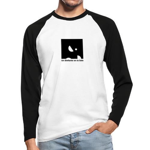 Logo Elefante Negro - Raglán manga larga hombre