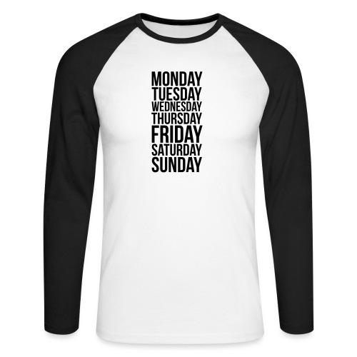 Days of the Week - Men's Long Sleeve Baseball T-Shirt