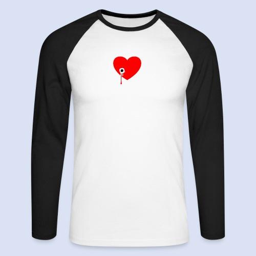 Cœur troué - T-shirt baseball manches longues Homme
