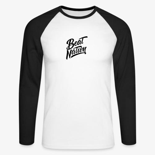 Logo Officiel Beat Nation Noir - Männer Baseballshirt langarm