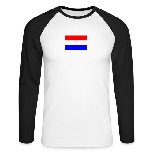 vlag nl - Mannen baseballshirt lange mouw