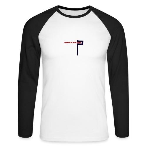 I believe in Jesus!!! - Männer Baseballshirt langarm