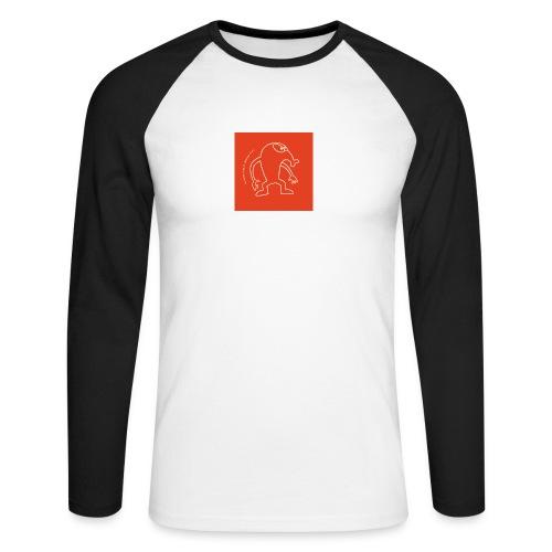 button vektor rot - Männer Baseballshirt langarm