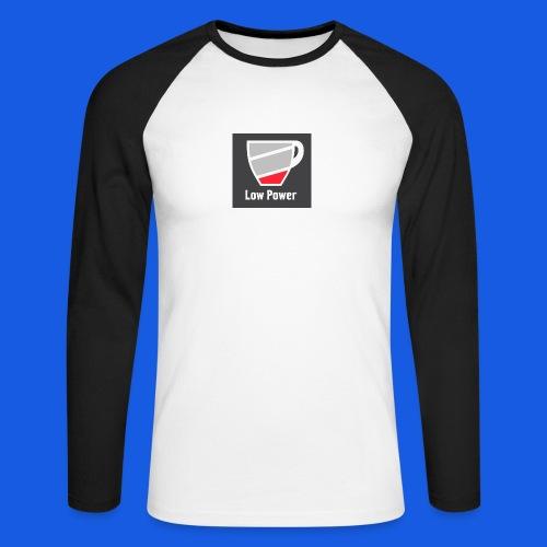 Low power need refill - Langærmet herre-baseballshirt