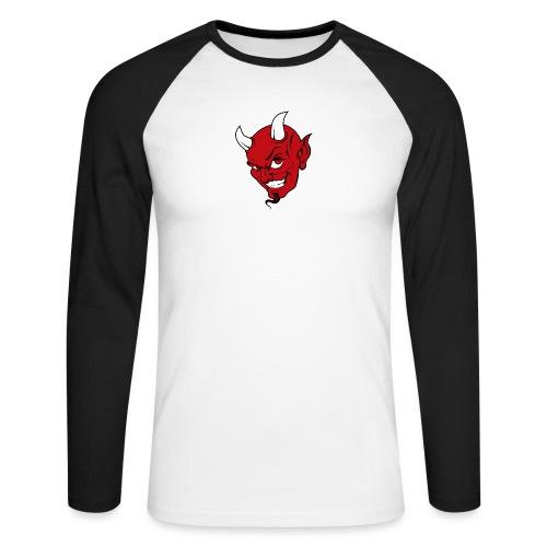 devils_kopf_für_Cap3 - Männer Baseballshirt langarm