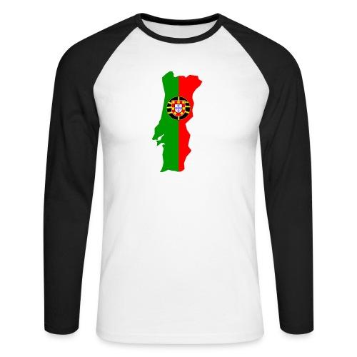 Portugal - Mannen baseballshirt lange mouw