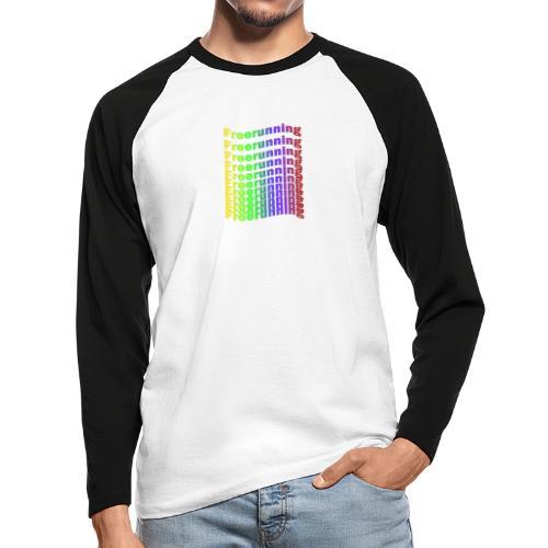 Freerunning Rainbow - Langærmet herre-baseballshirt